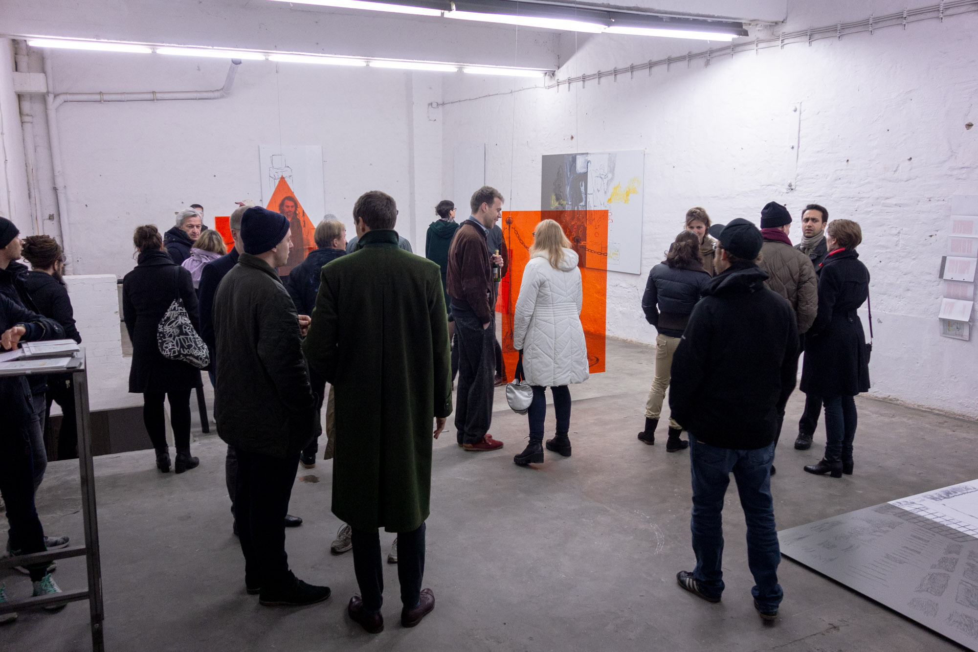 COURTROOM by MAXIMILIANE BAUMGARTNER + ALEX WISSEL - Opening - 17.11.2017 Studio For Artistic Research Maximiliane Baumgartner Alex Wissel Düsseldorf